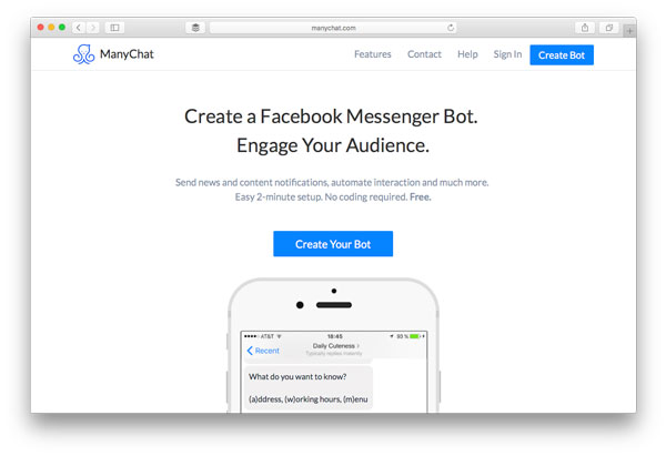 Chatbot Builder ManyChat