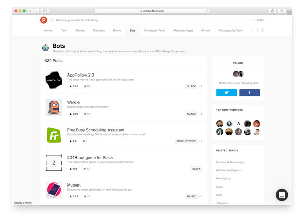 ProductHunt Bots Category